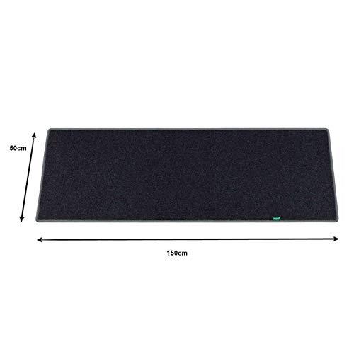 50x150cm Schwarz Fußmatte Wohnwagen Wohnmobil Fußbodenheizung Schreibtisch