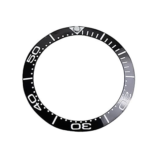 ZRNG Inserción de cerámica Inclinada de 40 mm Fit para 42 mm Fit para Omega Bezel Sea Master 300 Reloj Reloj de Cara Reemplace los Accesorios Parte 8800 Movimiento (Color : 7 40mm)