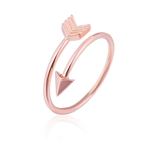 GD GOOD. designs EST. 2015 ® Women's Ring Arrow (Anello Aperto) Anello Donna Regolabile in Elegante Forma di Freccia (rosé)
