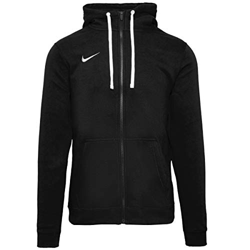 Nike Herren Hoodie FZ Fleece TM Club19, Schwarz (Black/White/010), 2XL