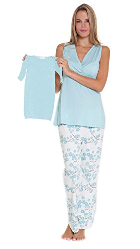 Olian Cotton Nursing 4pc. Pajama Set