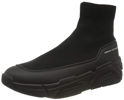 ARMANI EXCHANGE Socks Sneakers, Scarpe da Ginnastica Uomo, Black, 46 EU