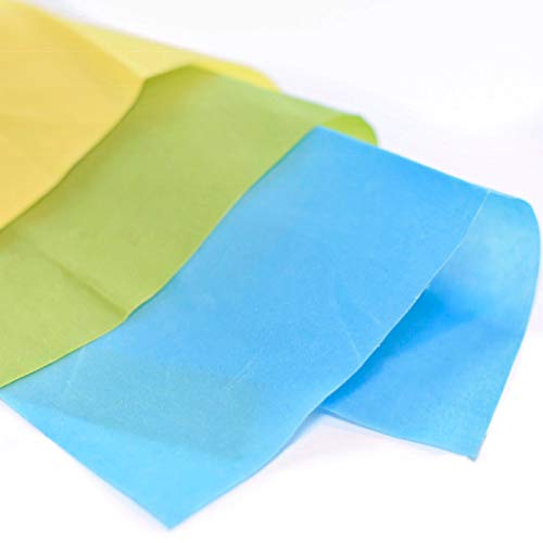 """Beeswax Wrap - Reusable, Eco-Friendly, All Natural Food Storage Wraps - Assorted Color Set 3-Pack - Small (7"""" x 8""""), Medium (10"""" x 11""""), Large (13"""" x 14"""")"""