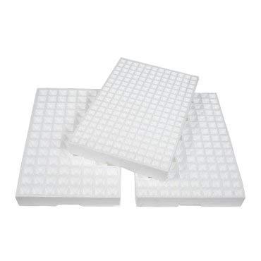 PAMPOLS Pack de 8 Bandejas de germinación de pórex, semilleros de poliestireno expandido o Corcho Blanco con 150 Orificios para Plantar Semillas, Bandeja de Cultivo de Semillas de Corcho Blanco.