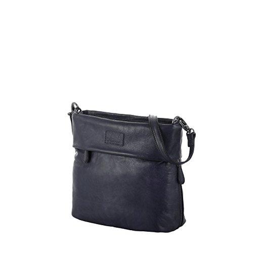 Rada Nature Umhängetasche 'Carrara' echt Leder Handtasche in verschiedenen Farben (dunkelblau)