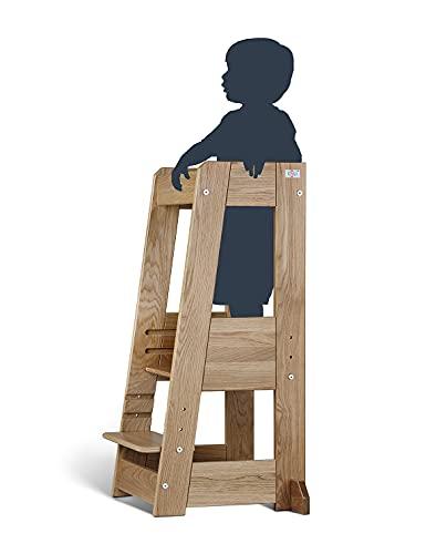 TiSsi Lernturm, Entdeckerturm Montessori mitwachsend Eiche natur- 100496