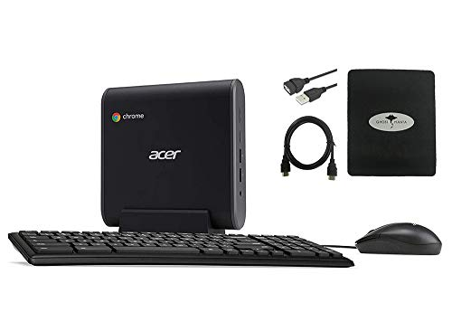 2020 Newest Acer Chromebox CXI3 Mini PC Desktop, Intel Celeron 3867U Processor 1.8GHz, 4GB RAM, 128GB SSD, 802.11ac WiFi 5, USB-C, HDMI, Keyboard and Mouse, Chrome OS w/GM Accessories