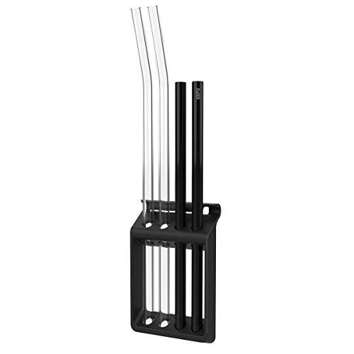 GEFU Trinkhalmspülkorb Future, 4er - für den Geschirrspüler - einfache Reinigung von Trinkhalmen - praktische Klemmvorrichtung
