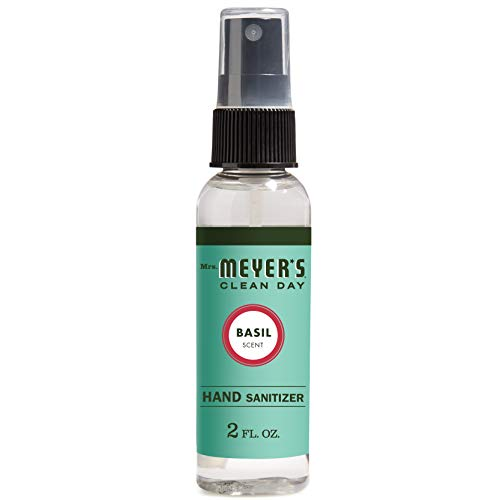 Mrs. Meyer's Clean Day Antibacterial Hand Sanitizer Spray, Removes 99.9 Percent of Bacteria on Skin, Basil Scent, 2 oz