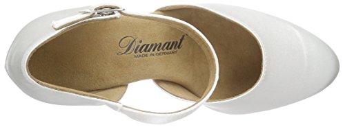 Diamant Diamant Brautschuhe Standard Tanzschuhe 051-085-092, Damen Tanzschuhe – Standard & Latein, Weiß (Weiß), 41 1/3 EU (7.5 Damen UK) - 7