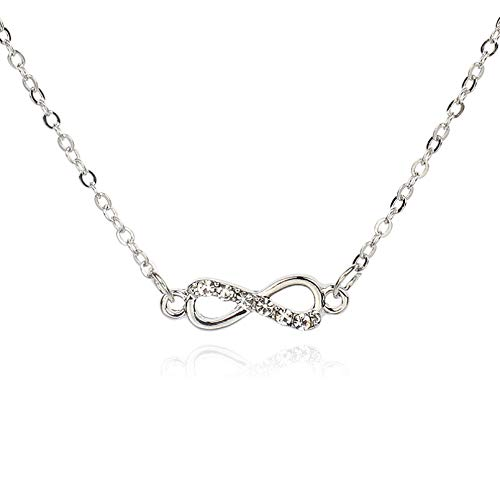 Necklace The New Suit Fashion Hollow 8 Word Infinite Bow Knot Necklace Bracelet Anklet Combinationsimple And Not Fading Necklace Holder