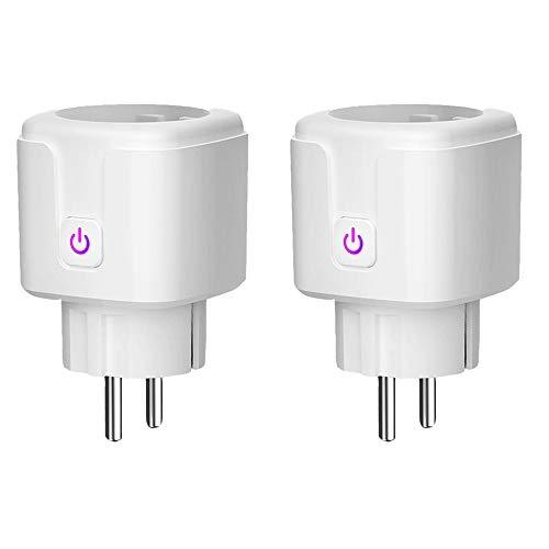 Varadyle Enchufe Inteligente de 2 Piezas, Salida WiFi Funciona con Alexa, Asistente de, Control Remoto de Sus ElectrodoméSticos (Enchufe de la EU)