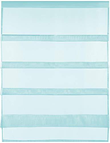 Transparente Bistrogardine Raffoptik mit Stangendurchzug in Voile, schlicht und modern in vielen erhältlich (80 x...