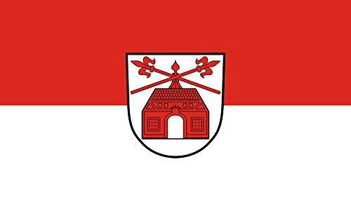 Unbekannt magFlags Tisch-Fahne/Tisch-Flagge: Zuzenhausen 15x25cm inkl. Tisch-Ständer