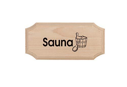 "eliga Schild 8-eckig""Sauna"""