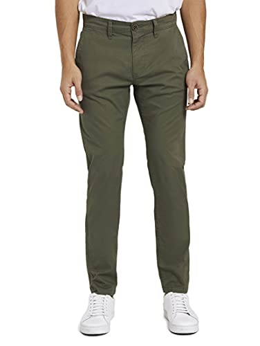TOM TAILOR Herren Classic Washed Hose, 24372-dusty Wood Green, 38