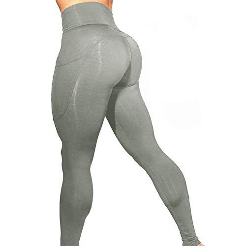 Jiaqusport Pocket High Waist Yoga Pants Women Running Fitness Clothing Push Up Pants Female Training Leggings Sport Femm
