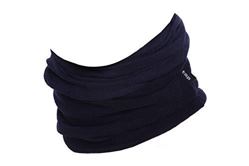 Hilltop Polar Halstuch, Multifunktionstuch, Kopftuch, Schlauchschal, Schal mit Fleece, Cooles Design in Trendfarben, für Damen und Herren, Farbe:Blau uni