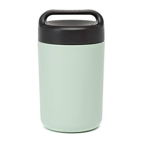 Goodful Frasco isolado à vácuo com tampa de alça, garrafa térmica de aço inoxidável de 473 ml, recipiente para almoço, 473 ml, sálvia