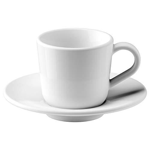 IKEA 365+ Espressotasse und Untertasse 6 cl weiß