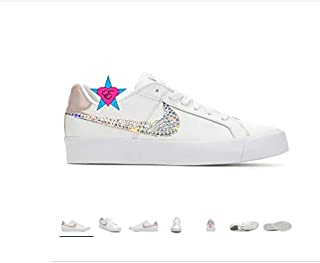 68a805ad6916b4 Custom Crystal Bling Women s Nike Court Royale Sneakers