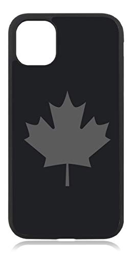 Kompatibel mit iPhone X XS Canada Fahne Mattschwarz Schwarz Handyhülle Case Cover Hülle Silikon