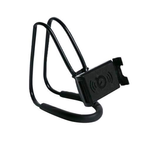 Soporte universal para teléfono móvil para colgar el cuello perezoso, soporte para tableta móvil, soporte para el cuello, soporte para teléfono móvil flexible (color: negro)