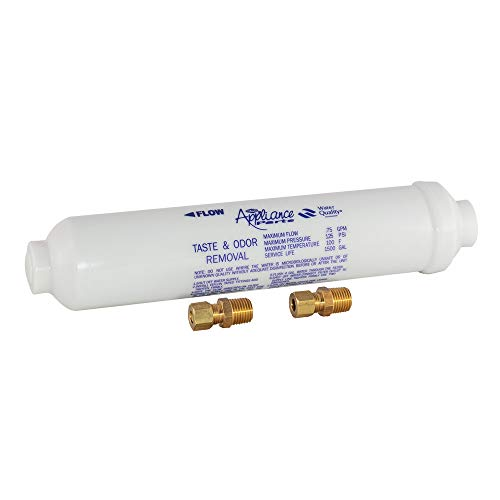 "EZ-FLO 60461N In-Line Water Filter for Taste and Odor, 10"" Length, White"
