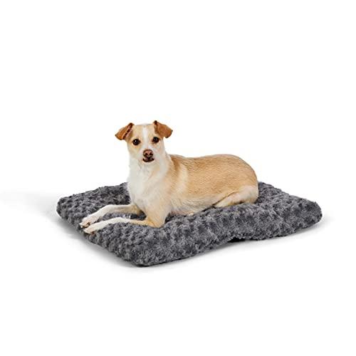 Amazon Basics Pet Dog Bed Pad, 23 x 18 x 2.5 Inch - X-Small, Gray Swirl