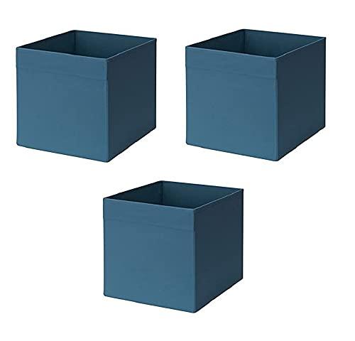 Ikea Drona Box, blu scuro (confezione da 3)