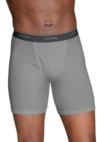 Fruit of the Loom Men's No Ride up Boxer Brief M (Pack of 5) White