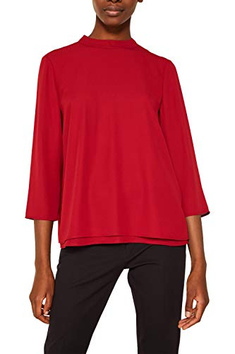 ESPRIT Collection Damen 119EO1F012 Bluse, Rot (Dark Red 610), 38