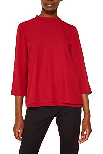 ESPRIT Collection Damen 119EO1F012 Bluse, Rot (Dark Red 610), 34