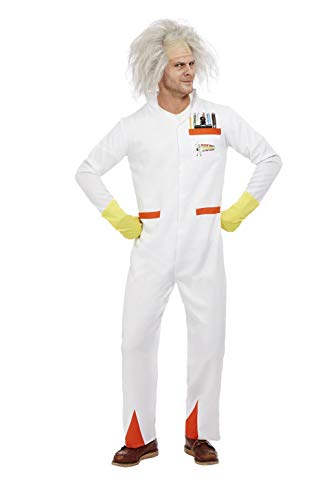 Smiffys Officially Licensed Back to the Future Doc Costume Disfraz oficial, color blanco, L-Size 42'-44' (52308L)