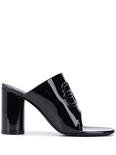 Balenciaga Luxury Fashion Damen 614385WA9831000 Schwarz Leder Sandalen   Jahreszeit Permanent