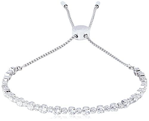 SWAROVSKI Women's Subtle Bracelet Jewelry Collection, Rhodium Finish, Clear Crystals