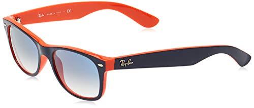 Ray-Ban Unisex - Erwachsene Sonnenbrille New Wayfarer, Gr.52mm (Gestell: blau, Gläser: kristall verlauf hell blau)