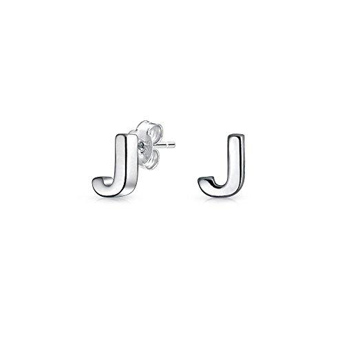 Alfabeto Geométrico Minimalista Bloque Inicial Letra J Pendiente De Boton Para Adolescente Para Mujer 925