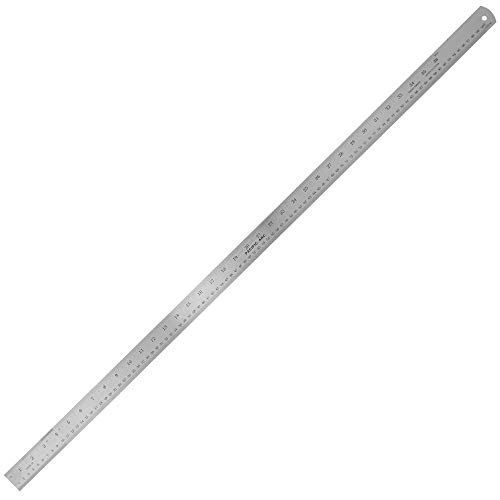 Pacific Arc 36 Inch Stainless Steel Ruler with Inch/Metric Conversion Table