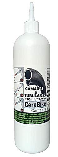 CeraBike CAMARAS Sellante Antipinchazos 530 ml. Válido para Carretera y Montaña.
