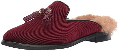 Sperry Womens Seaport Levy Tassel Fur Mule Loafer, Wine, 7.5