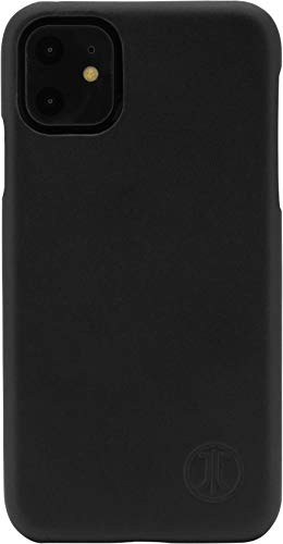 JT Berlin BackCase Kreuzberg Echtleder Hardcover für Apple iPhone 11 (6.1'') in schwarz - [Clip-on-Cover, Wireless Charging (Qi) kompatibel, weiches Innenfutter, passgenau] - 10534
