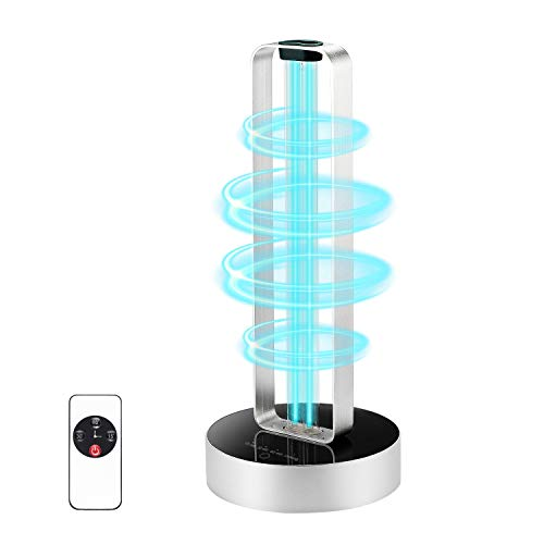 UV Disinfection Lamp with Remote Control,540 sq.ft 99.9% Sterilizer Light Mite-Killer Lights Sterilization Lamp for Kitchen, Bedroom, Toilet and Living Room Pet Area Germicidal