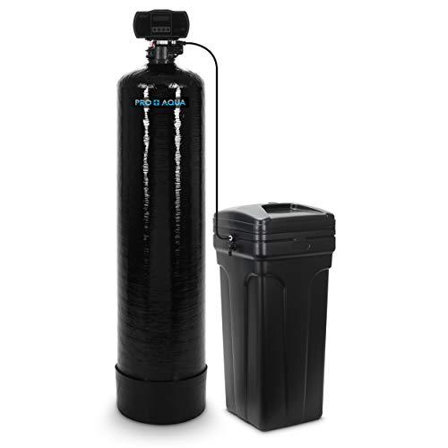 PRO+AQUA Whole House Water Softener High Demand Heavy Duty 80,000 Grain Capacity 1' Highflow Threaded Ports - LCD User Friendly Programmable Interface
