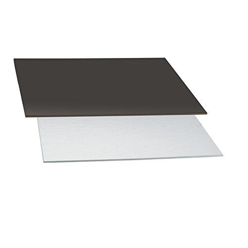 Decora Plat à Cake, 32 x 32 cm, Noir/Argent