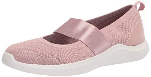 Clarks womens Nova Sol Sneaker, Dusty Pink Knit, 9 US