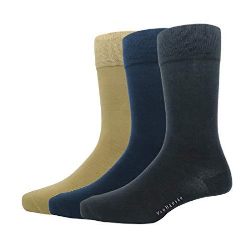 Van Heusen Men's Cotton Full length Socks (Pack Of 3)