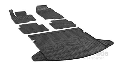 Rigum Passende Gummimatten und Kofferraumwanne Set geeignet für Mazda CX-5 ab 2017 + Gurtschoner