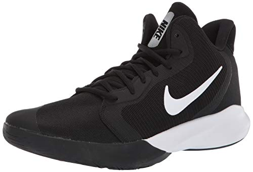 Nike Precision III Basketball Shoe, Black/White, 5.5 Regular US