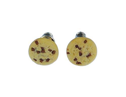 Keks Cookie Chocolate-Chip Ohrstecker Miniblings Stecker Weihnachten rund 9mm